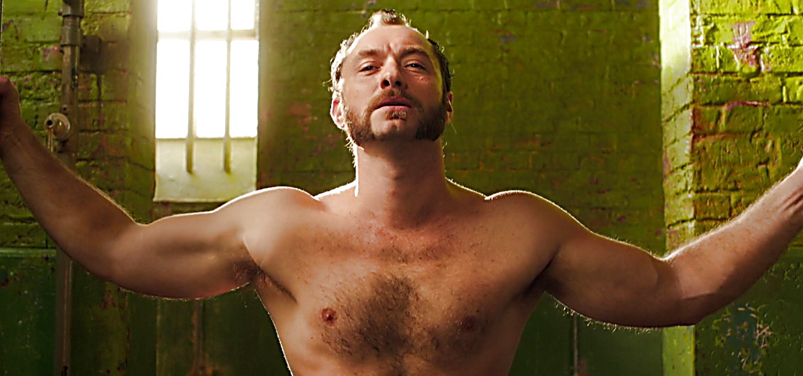 Jude Law sexy shirtless scene April 6, 2014, 12am