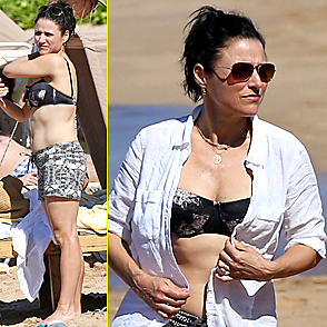 Julia Louis Dreyfus latest sexy shirtless December 25, 2014, 8am