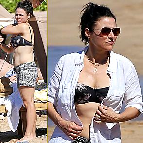 Julia Louis Dreyfus latest sexy shirtless December 25, 2014, 8am