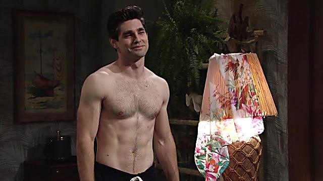 Justin Gaston sexy shirtless scene December 5, 2020, 1pm