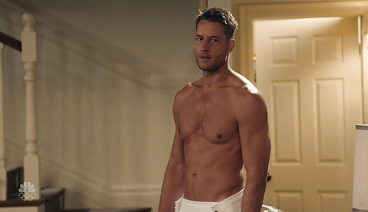 Justin Hartley sexy shirtless scene October 4, 2017, 11am