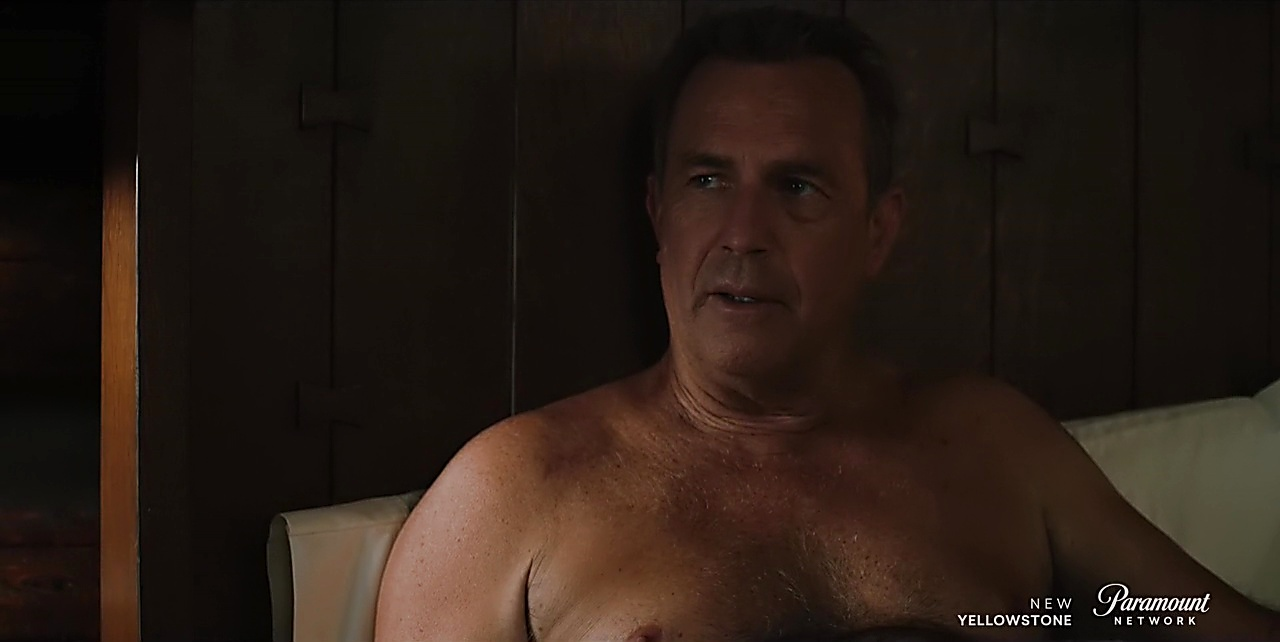 Kevin Costner sexy shirtless scene July 13, 2018, 1pm