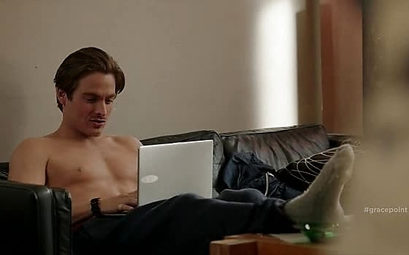 Kevin Zegers sexy shirtless scene November 4, 2014, 7pm