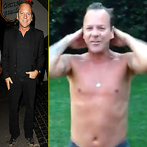 Kiefer Sutherland latest sexy shirtless September 1, 2014, 3am