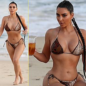 Kim Kardashian latest sexy shirtless August 28, 2020, 1am