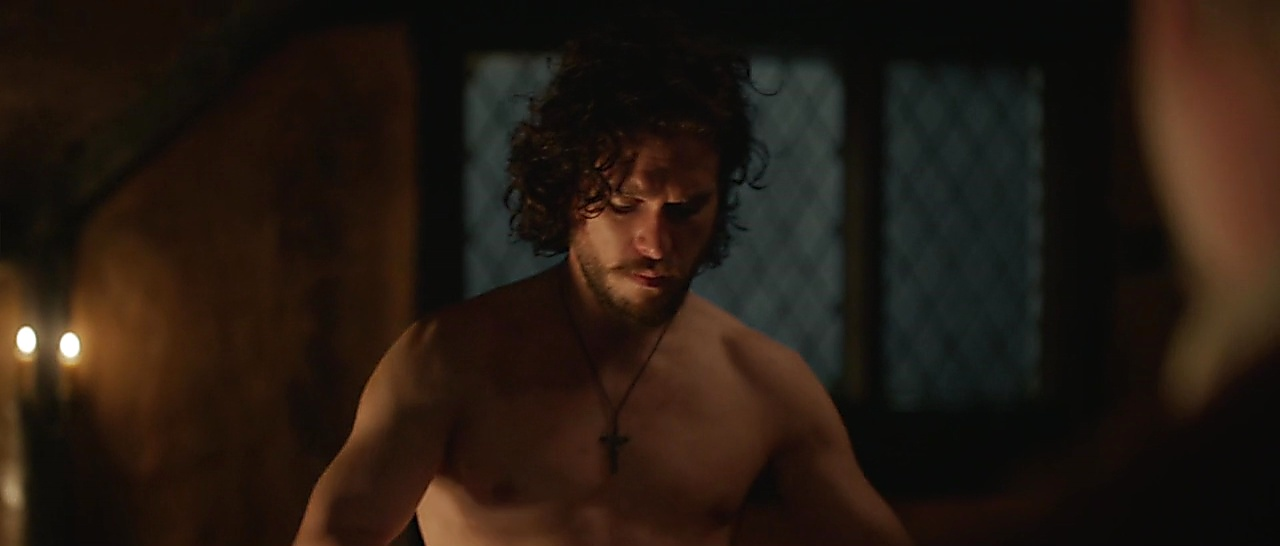 Kit Harington sexy shirtless scene October 29, 2017, 7am