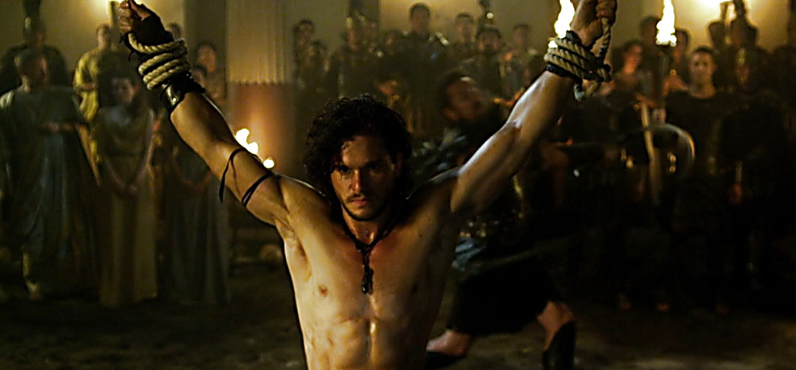 Kit Harington sexy shirtless scene May 16, 2014, 7pm