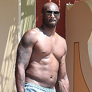Kobe Bryant latest sexy shirtless August 1, 2017, 12pm