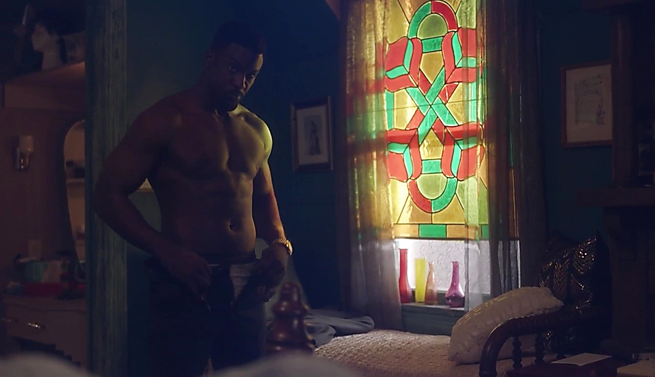 Lance Gross sexy shirtless scene December 7, 2017, 3pm