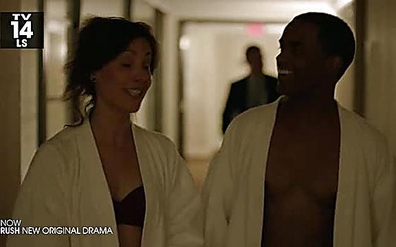 Larenz Tate sexy shirtless scene August 24, 2014, 11pm