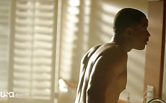 Larenz Tate sexy shirtless scene September 16, 2014, 12pm