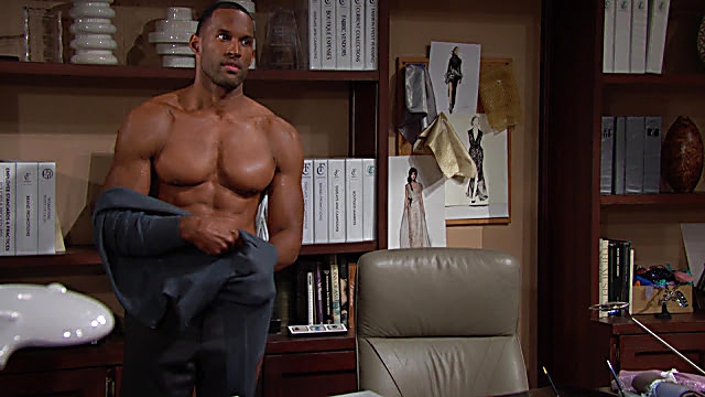 Lawrence Saint Victor sexy shirtless scene April 26, 2021, 3pm
