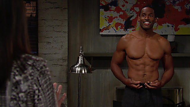 Lawrence Saint Victor sexy shirtless scene May 5, 2021, 7am