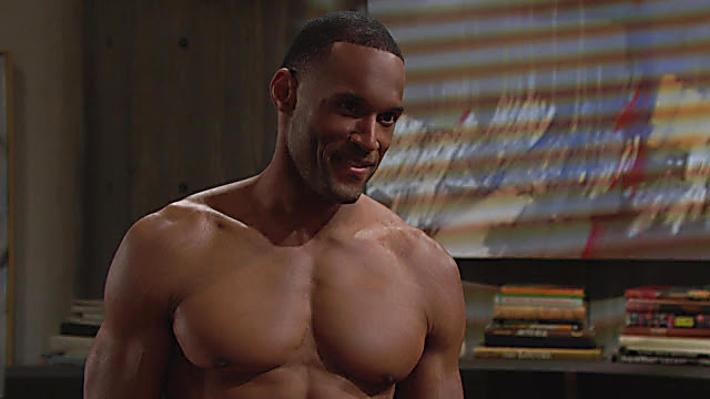 Lawrence Saint Victor sexy shirtless scene May 9, 2021, 3pm