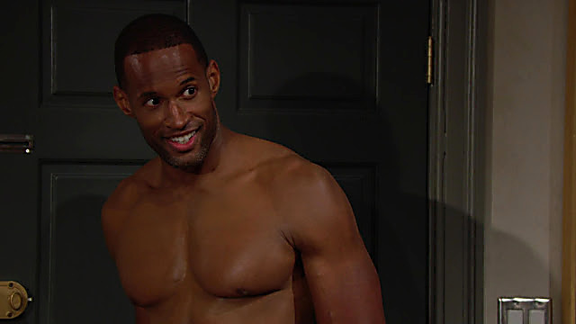 Lawrence Saint Victor sexy shirtless scene July 17, 2021, 7am