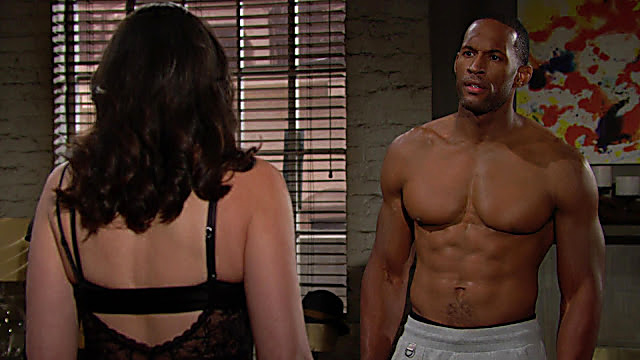 Lawrence Saint Victor sexy shirtless scene July 23, 2021, 6am