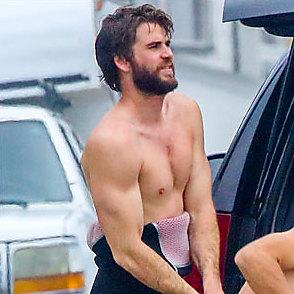 Liam Hemsworth latest sexy shirtless February 13, 2017, 2pm