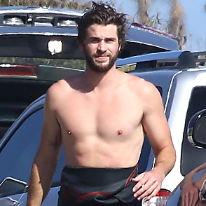 Liam Hemsworth latest sexy shirtless June 13, 2018, 12am
