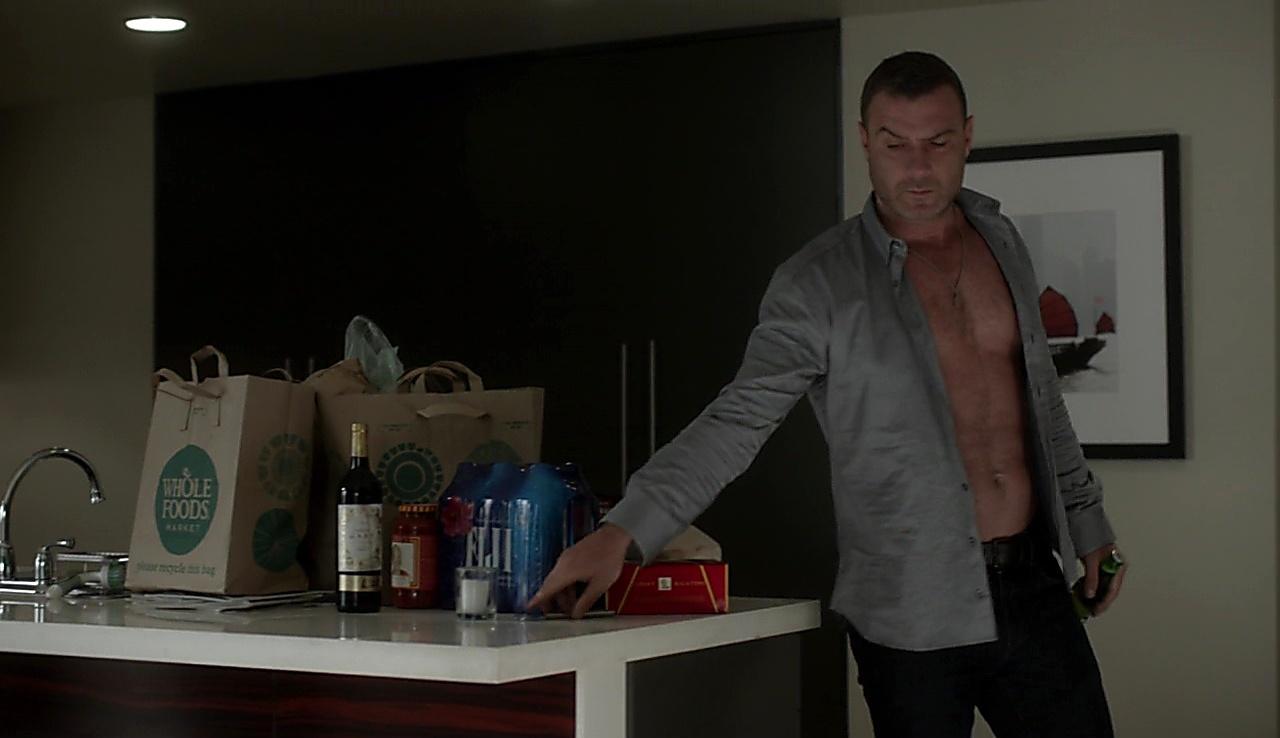 Liev Schreiber sexy shirtless scene October 9, 2017, 1pm