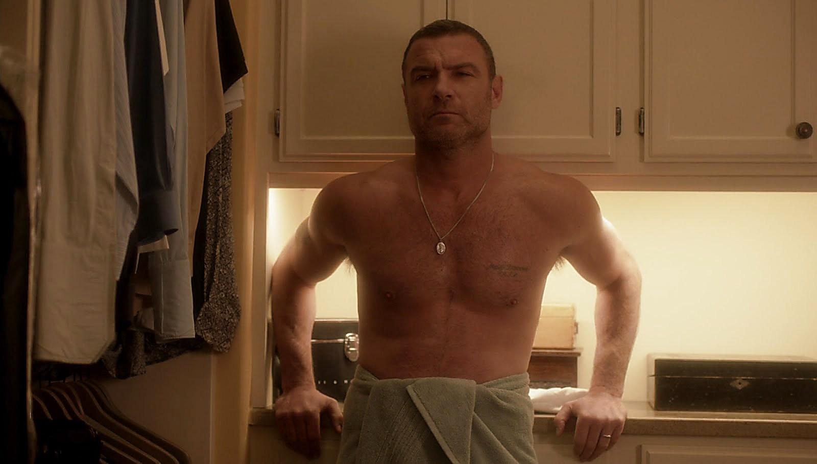 Liev Schreiber sexy shirtless scene August 14, 2017, 12pm