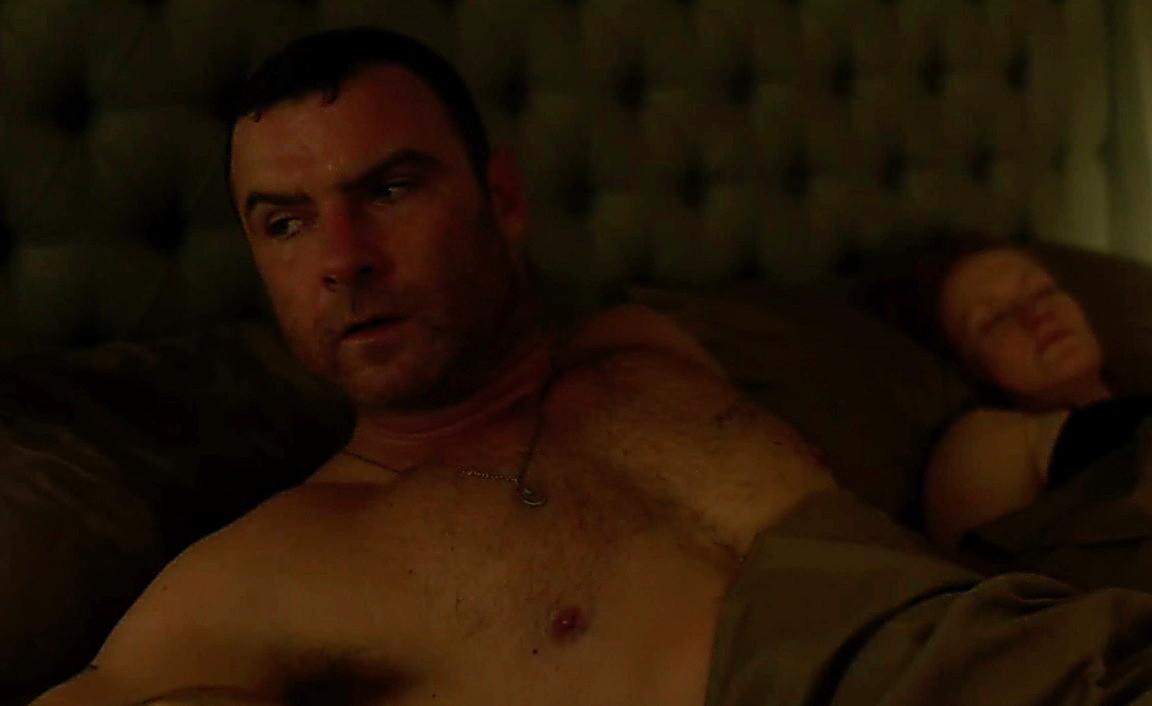 Liev Schreiber sexy shirtless scene August 2, 2014, 7pm