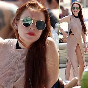 Lindsay Lohan latest sexy shirtless June 17, 2018, 5pm