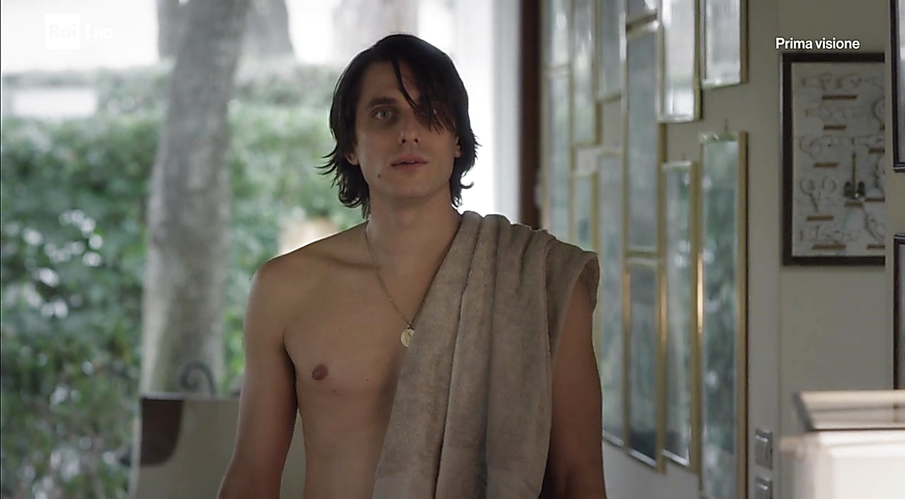 Luca Marinelli sexy shirtless scene February 15, 2018, 11am