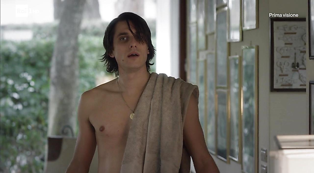 Luca Marinelli sexy shirtless scene February 15, 2018, 11am