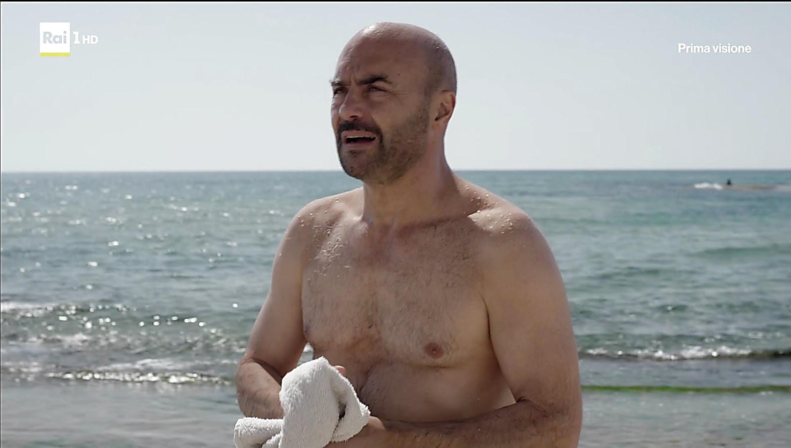 Luca Zingaretti sexy shirtless scene March 7, 2017, 1pm