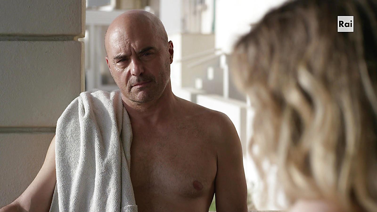Luca Zingaretti sexy shirtless scene March 15, 2020, 11am