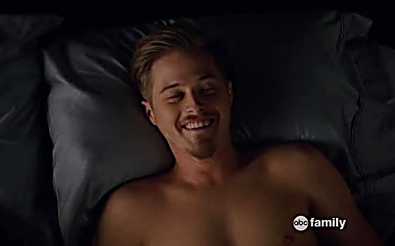 Lucas Grabeel sexy shirtless scene August 4, 2014, 1pm