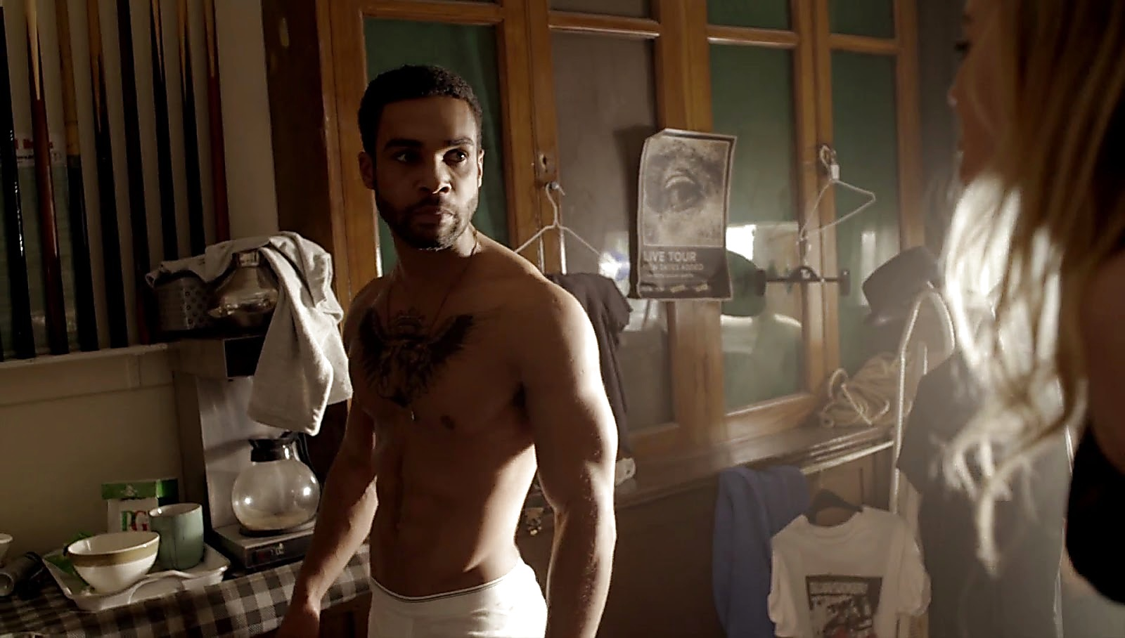 Lucien Laviscount sexy shirtless scene April 15, 2017, 12pm