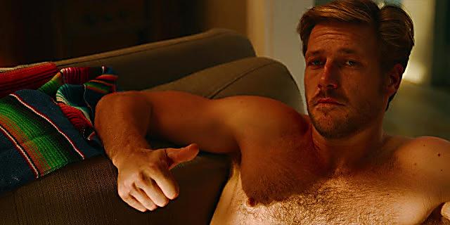 Luke Bracey sexy shirtless scene October 28, 2020, 6am