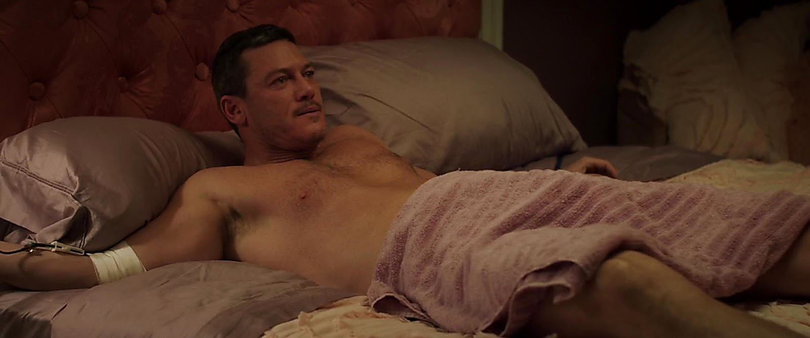 Luke Evans sexy shirtless scene August 15, 2019, 1pm