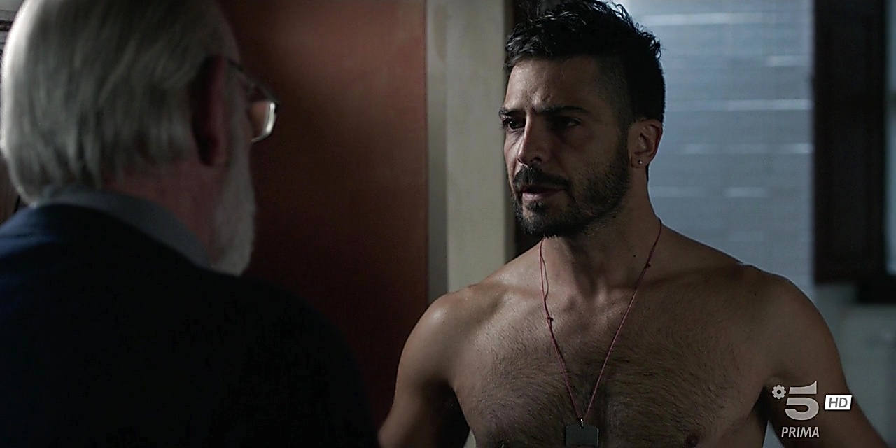 Marco Bocci sexy shirtless scene October 20, 2018, 12pm