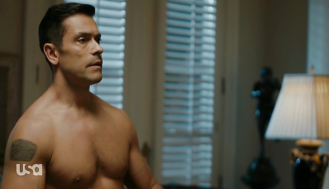 Mark Consuelos sexy shirtless scene June 20, 2017, 1pm
