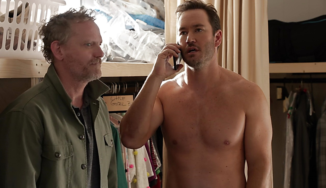 Mark Paul Gosselaar sexy shirtless scene April 27, 2018, 1pm
