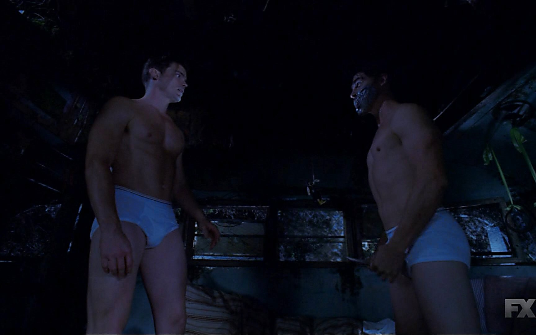 Finn Wittrock sexy shirtless scene November 6, 2014, 2am