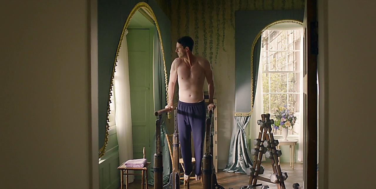Matthew Goode sexy shirtless scene April 10, 2018, 1pm