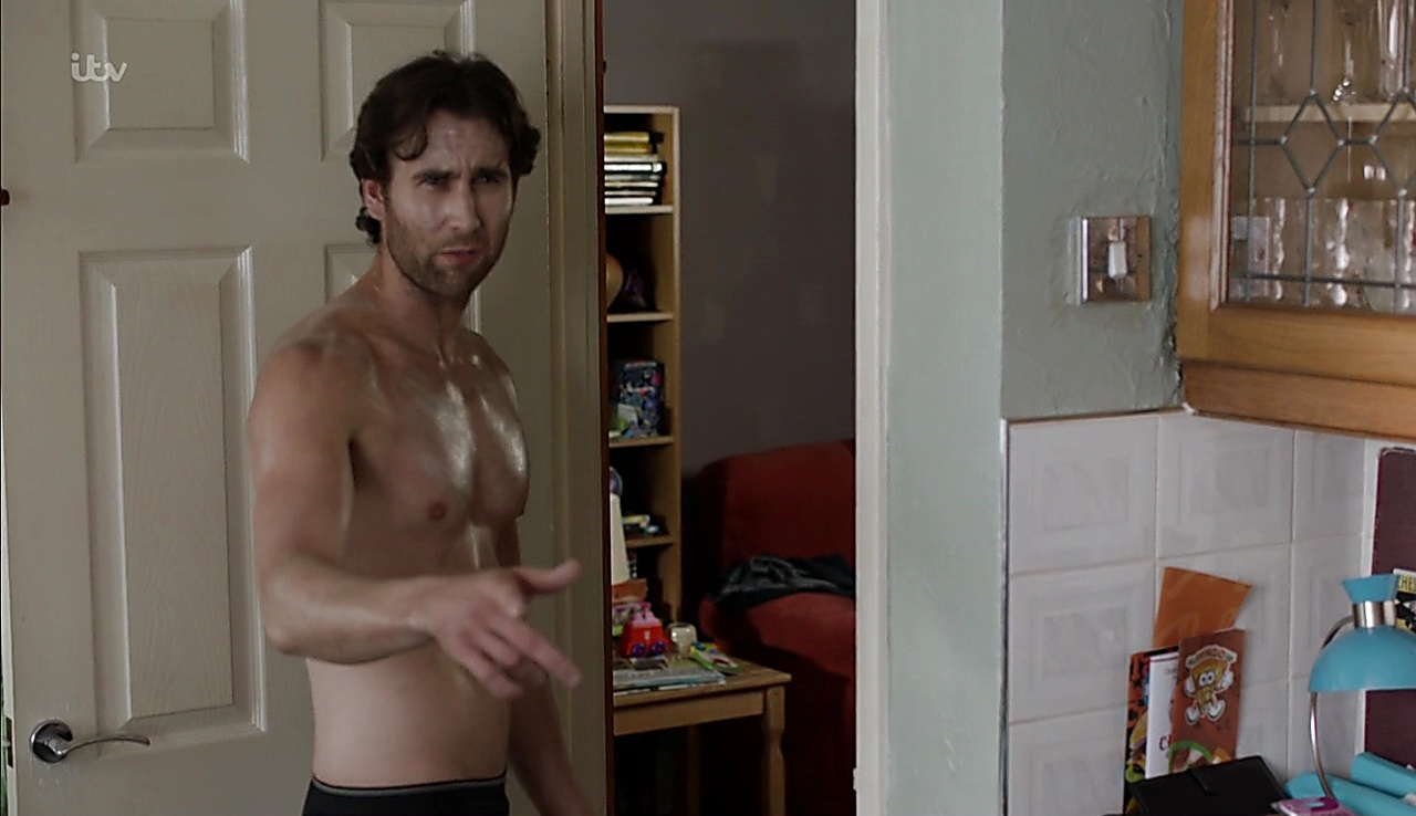 Matthew Lewis sexy shirtless scene January 4, 2018, 1pm
