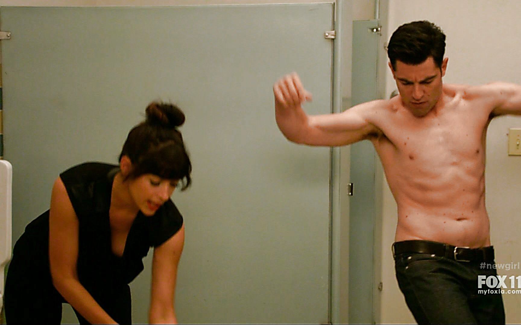 Max Greenfield sexy shirtless scene January 3, 2015, 12am