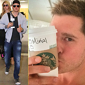 Michael Buble latest sexy shirtless September 26, 2014, 7pm