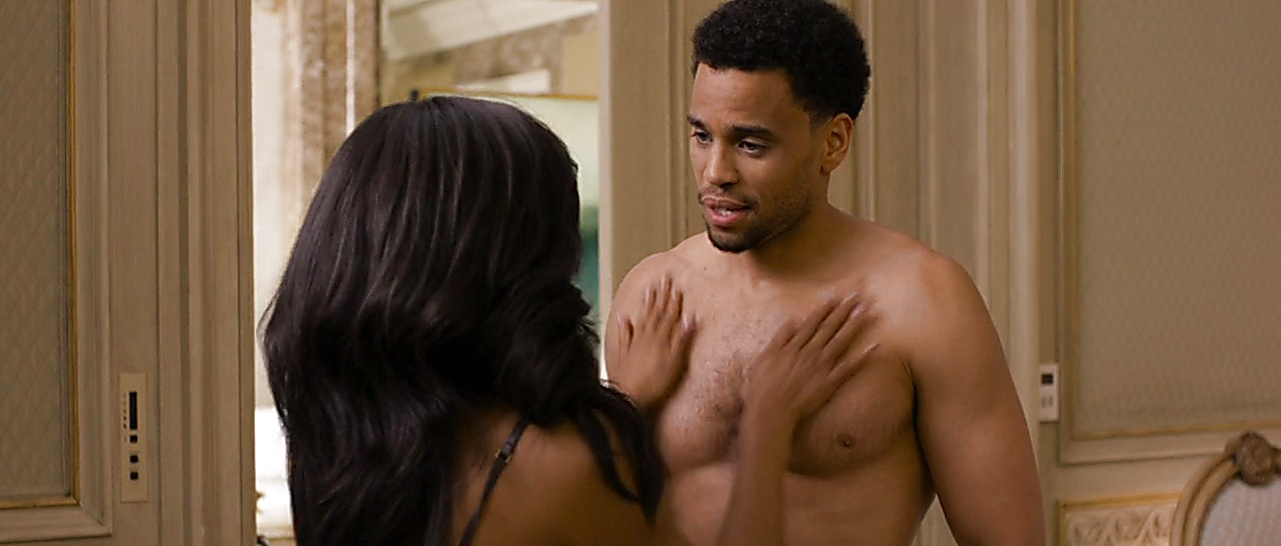 Michael Ealy sexy shirtless scene March 8, 2018, 3pm