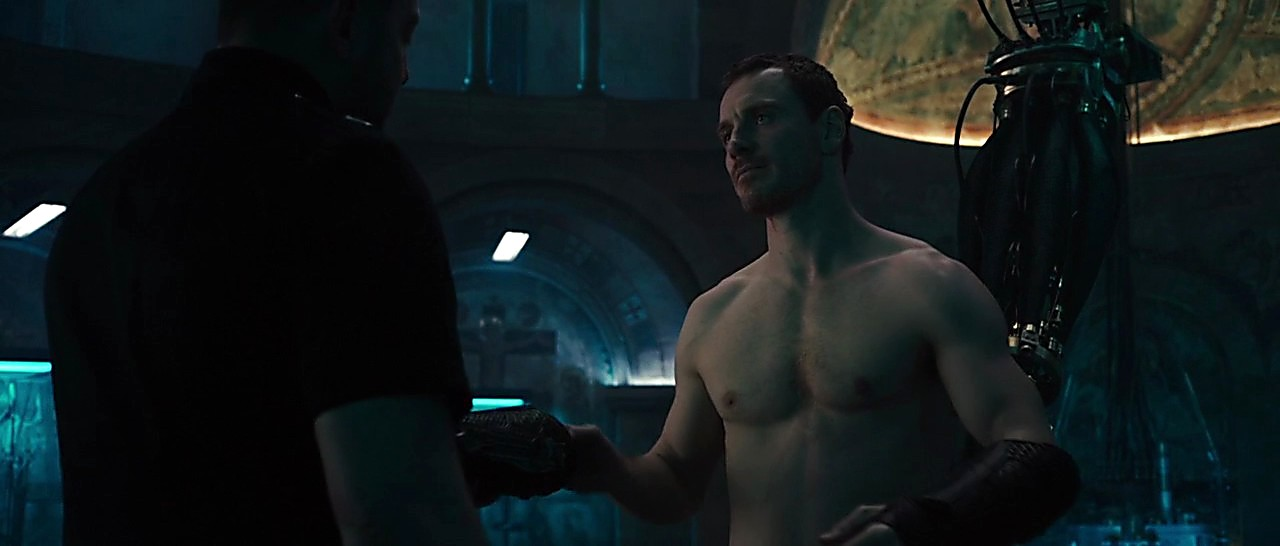 Michael Fassbender sexy shirtless scene March 10, 2017, 12pm