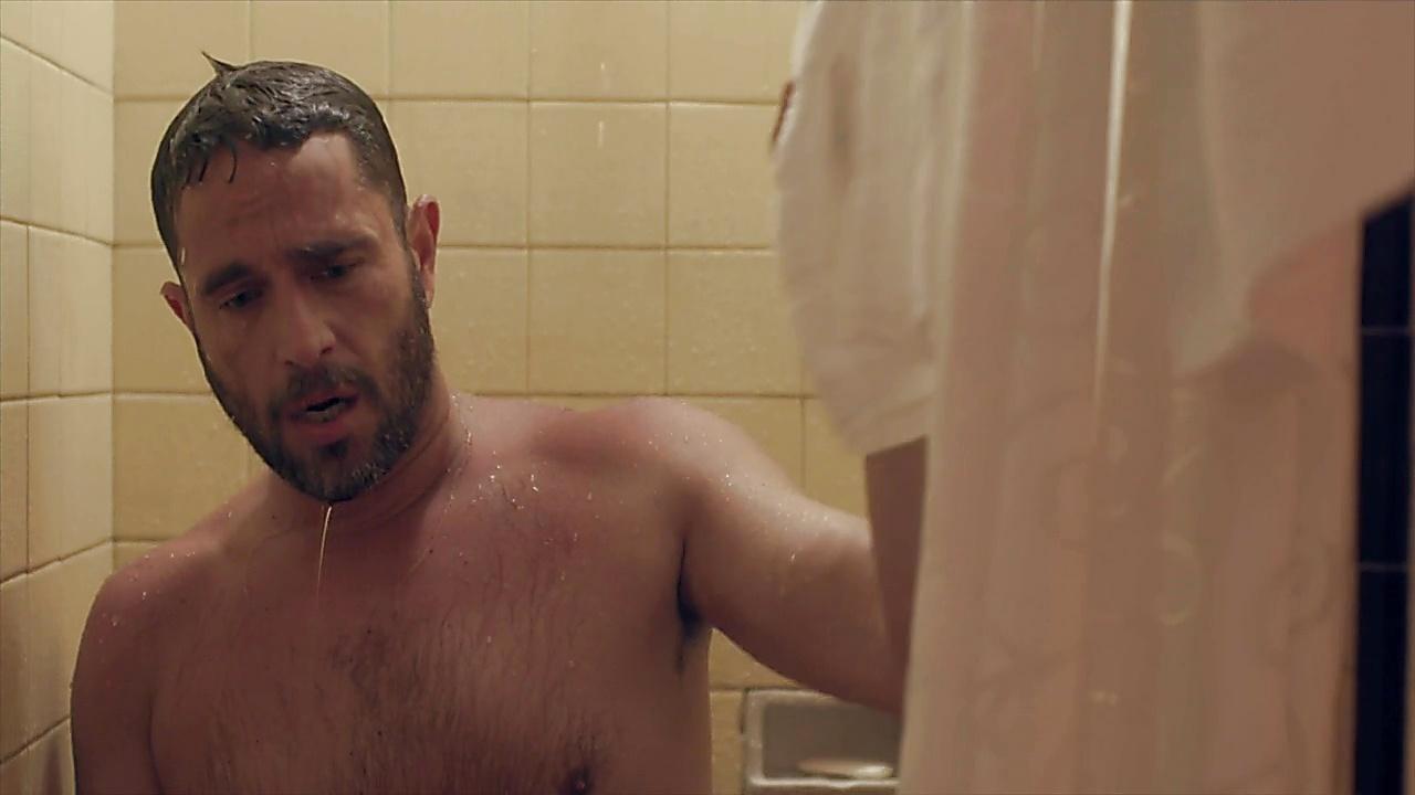 Michel Brown sexy shirtless scene December 5, 2018, 1pm