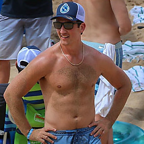 Miles Teller latest sexy shirtless September 2, 2019, 7pm