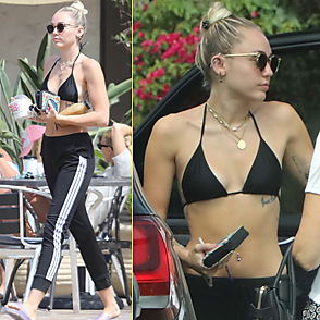 Miley Cyrus latest sexy shirtless July 25, 2017, 4pm