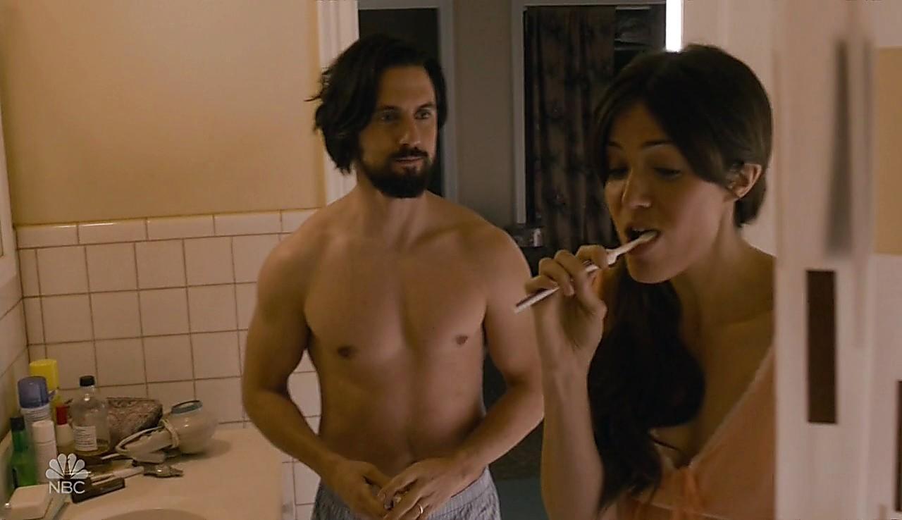 Milo Ventimiglia sexy shirtless scene February 9, 2017, 3pm
