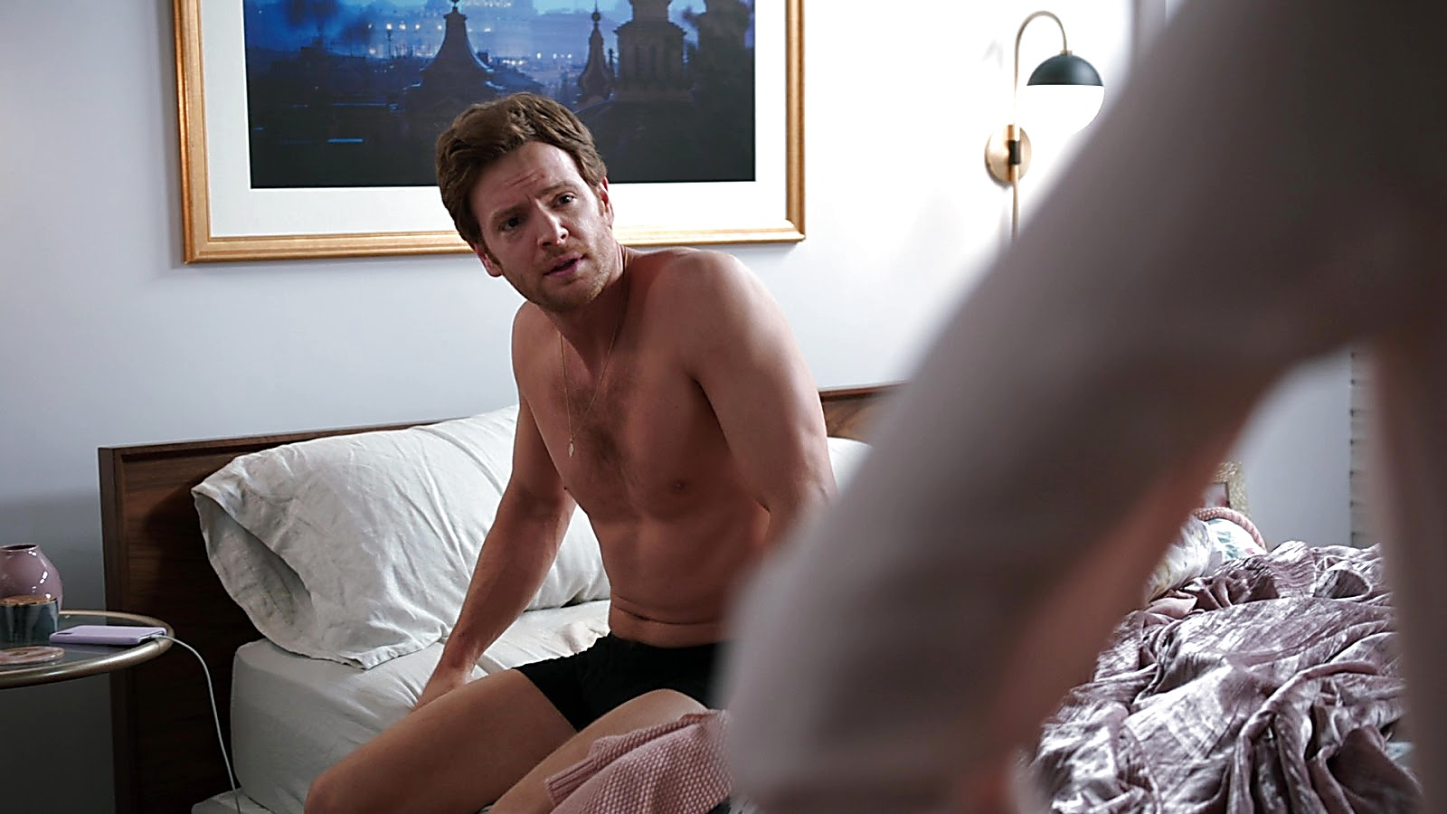 Nick Gehlfuss sexy shirtless scene April 18, 2020, 1pm