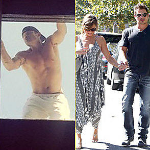 Nick Lachey latest sexy shirtless July 24, 2014, 1am